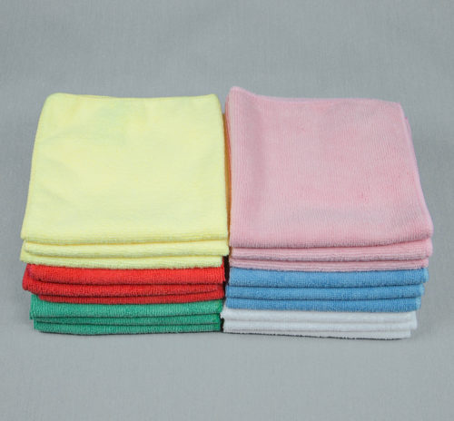 12x12 Microfiber Cloth Color Hand Towels 30gms