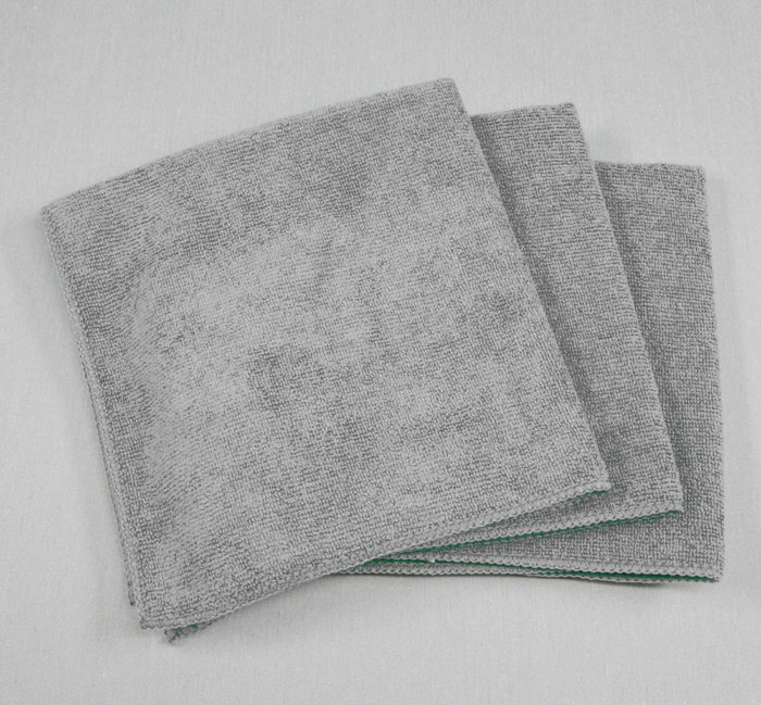 16x16 Microfiber Cloth 49g Grey Towels