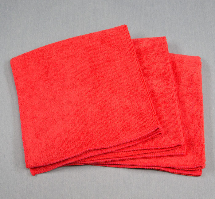 16x16 Microfiber Cloth 49g Red Towels
