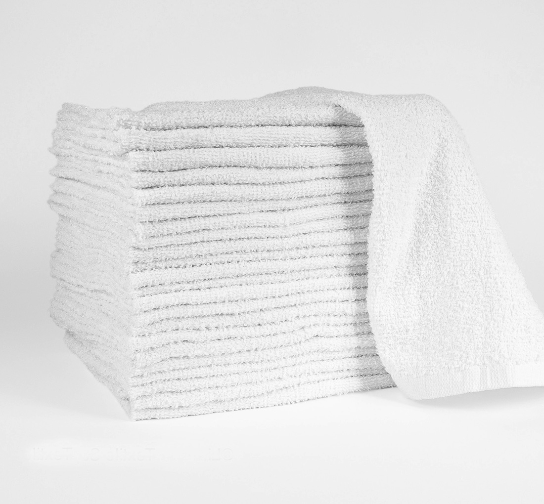 16×19 White Bar Mop Towels