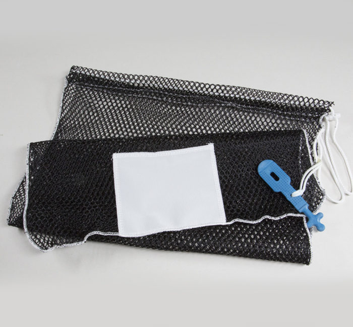 20x30 Mesh Bags Rubber Ties Black