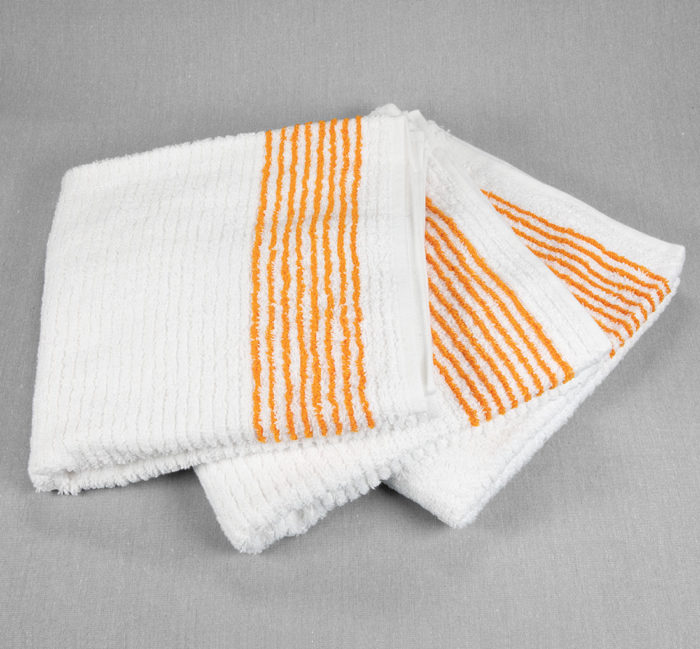 22x44 Super Gym Towels Gold Stripe
