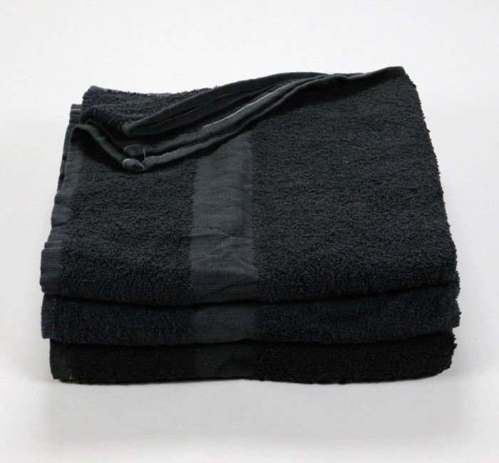22x48 Black Wholesale Bath Towel