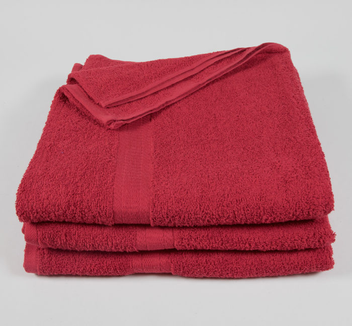 27x52 Color Towel Red