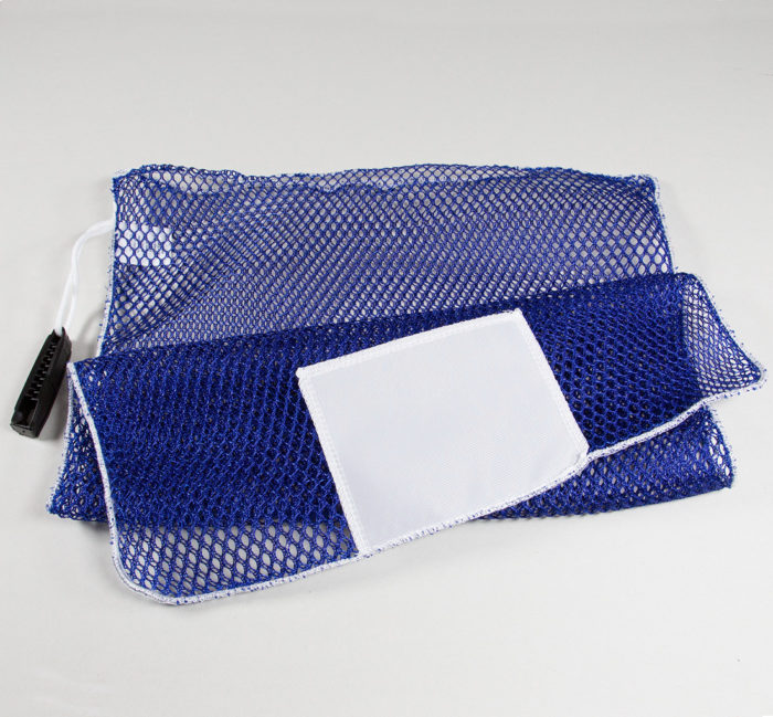 Mesh Alligator Clip Laundry Bags Royal Blue