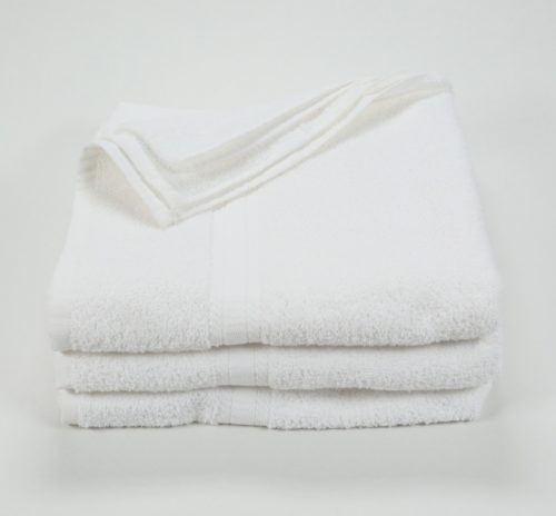 "Premium White Bath Towel - 27"" x 54"" - 17lb"