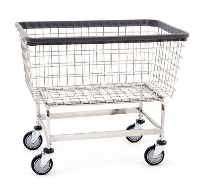 R&B Wire Cart Mega Capacity Laundry Cart 6bu 201h